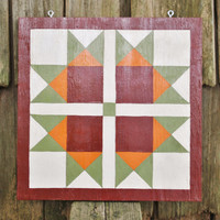 Indian Summer - 2' x 2' Barn Quilt Square hand painted on wood