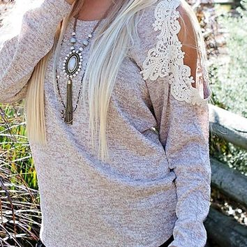 Cozy Cottage Sweater: Oatmeal - Lavish Boutique