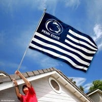 Penn State PSU Alumni Nation Stripes Flag