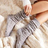 Chunky Knit Ribbed Knee-High Sock-