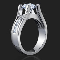 Engagement Rings -  .68 ctw. 14K Gold Diamond Engagement Ring
