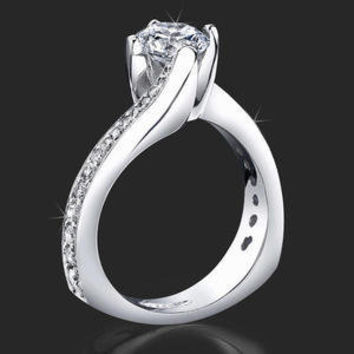 Engagement Rings -  .50 ctw. 14K Gold Diamond Engagement Ring