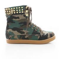 In The Army High Top Sneakers - High Top Sneakers at Pinkice.com