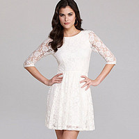Gianni Bini Gavin Lace Dress white | Dillards.com