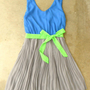 Clearwater Colorblock Dress in Royal [2604] - $37.80 : Vintage Inspired Clothing & Affordable Summer Dresses, deloom | Modern. Vintage. Crafted.