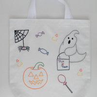 Halloween Trick or Treat Canvas Bag Tote