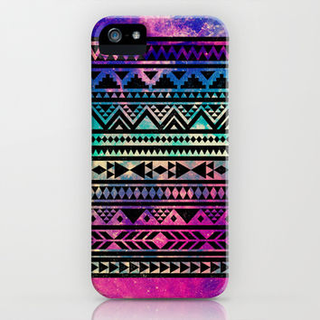 #iphone #case #geo #colors #aztec #tribal #pattern #space #stars #nebula Colorful Geometric Aztec Tribal Pattern iPhone & iPod Case