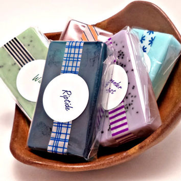 Soap Samples - Pick 5 - Mini Soaps - Travel Size Soaps - Party Favors - 1 oz. Guest Soaps - Trial Size - Stocking Stuffers