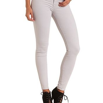 "Refuge ""Skin Tight Legging"" Colored Skinny Jeans - Dove Gray"