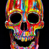 Chromatic Skull Art Print | Print Shop $20