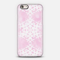 Snowflake - Pink Ice iPhone 6 case by Lisa Argyropoulos | Casetify