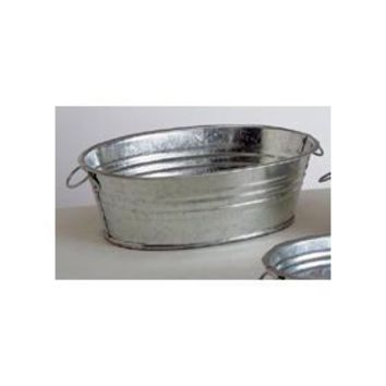Package of 12 small galvanized metal oval from amazon others for Galvanized metal buckets small