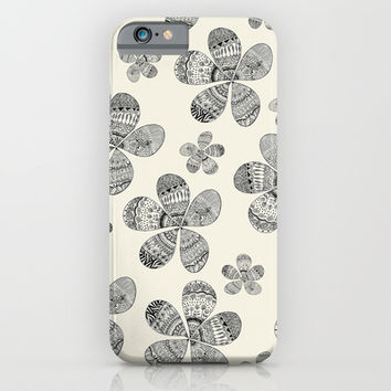 Muted Storied Flowers iPhone & iPod Case by Sandra Arduini   Society6