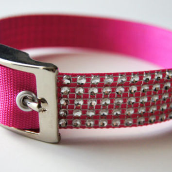 Silver Bling Dog Collar