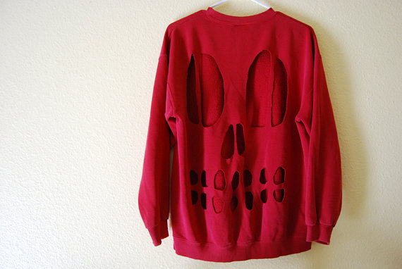 Red Skull Sweater
