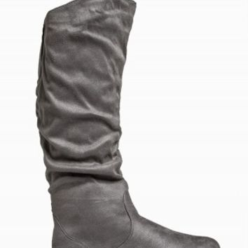 TWISTED RUCHED WIDE BOOTS