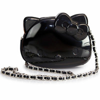 """""""Loungefly Loves Hello Kitty"""" 3D Molded Crossbody Bag by Loungefly (Black)"""
