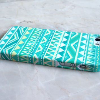 Mint Geometric Aztec Tribal iPhone 5s Case , iPhone 5 Case , iPhone 4s Case , iPhone 6 Case , iPhone 6 Plus Case , Samsung Galaxy S5 S4 Case