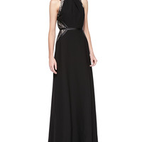 Women's Genevieve Lace Combo Gown - Shoshanna - Black/Nude