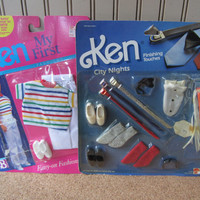 2 Vintage (Barbie) Ken Packs of Clothes and Accessories 1985 and 1989 NRFB