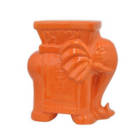 Ganesh Takes a Seat Stool in Orange