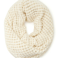 FOREVER 21 Bubble Wrap Knit Scarf Cream One