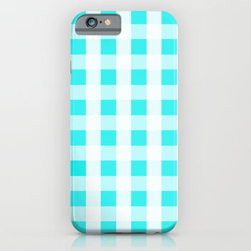 Plaid Flannel Turquoise Mint iPhone & iPod Case by Beautiful Homes