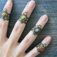 PICK A midi ring armor ring knuckle ring nail ring claw ring  finger tip ring trending vampire goth victorian moon goddess pagan boho gypsy