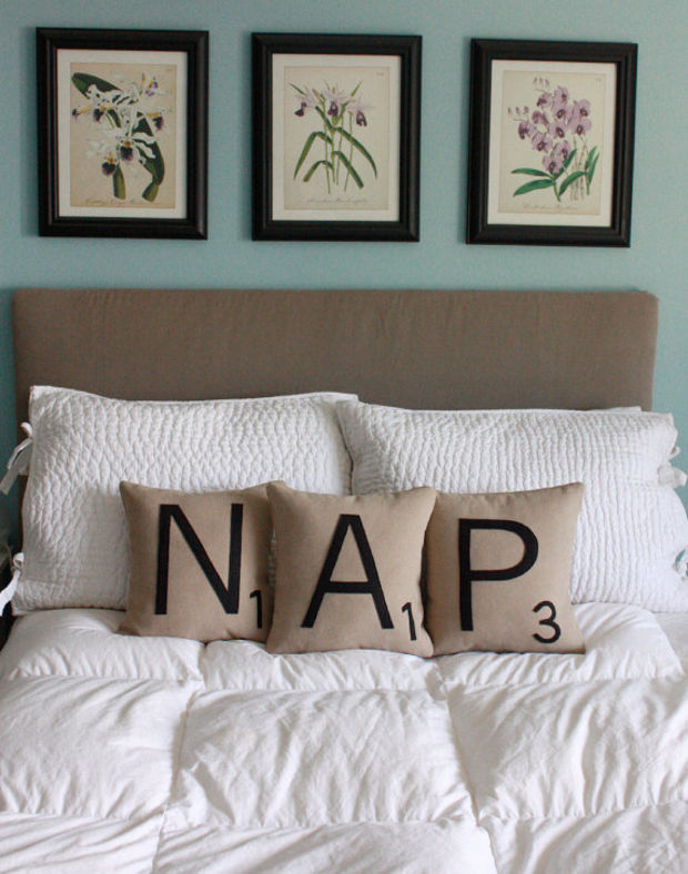 NAP Letter Pillows - CASES ONLY