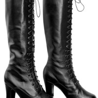 Victorian Style Heeled Boots, ALL sizes in stock, Order your customised size and Leather/Fabric  Colour