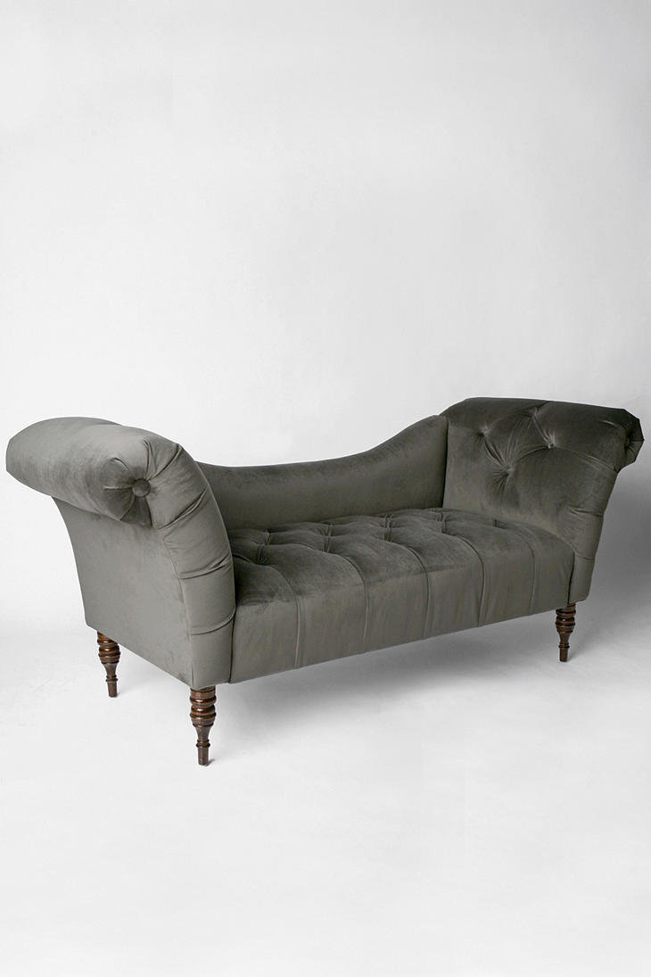 Antoinette Fainting Sofa - Carbon