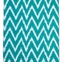 Wavy Chevron Dorm Rug - Teal and White Decorations For Your Dorm Add Supplies For College