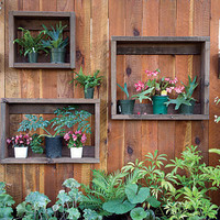 DIY Shadow Boxes On A Fence | Shelterness
