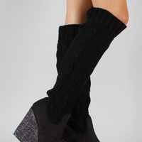 Liliana Verona-5 Knit Knee High Wedge Boot