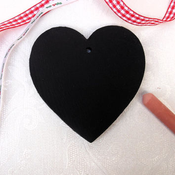 Wooden Chalkboard Heart Christmas Tree Decoration / Gift Tag
