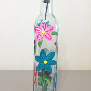 Daisy Olive Oil or Soap Bottle
