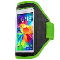 Neon Green Running Sports Gym Armband for Samsung Galaxy S5 :: CellPhoneCases.com