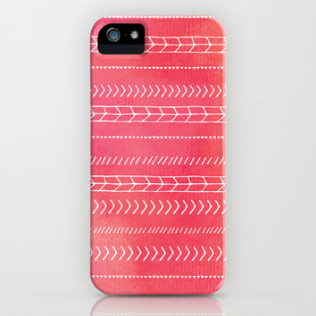 Orange Pink Tribal iPhone & iPod Case by Kate