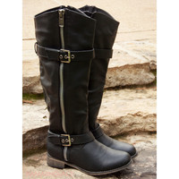 Saddle Creek Black Boots