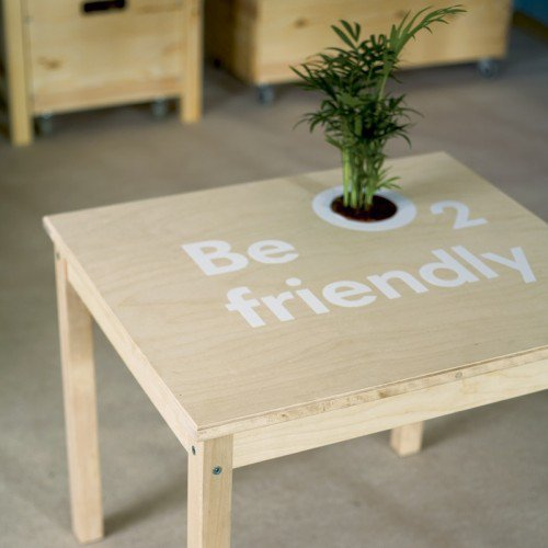 DIY Coffee Table With a Built-In Planter | Shelterness