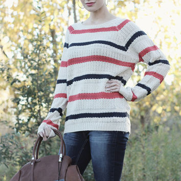 Striped Knit Sweater | Posh Boutique