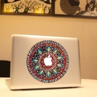 macbook decal flower Macbook sticker partial cover Macbook Pro decal Skin Macbook Air 13 Sticker Macbook decal