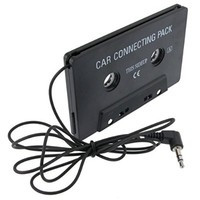 Everydaysource® Compatible with Samsung© Galaxy Note 4 / Samsung© Galaxy SIV/ S4 i9500 Black Car Audio Cassette Adapter