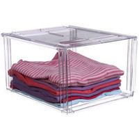 Crystal Clear Clothing Storage Bin