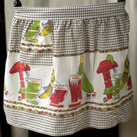 Kitchen Half Apron Fun Vintage