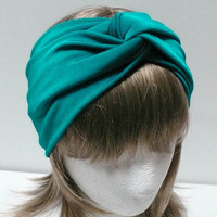 TEALBLUE Jersey Twist Turban headband by Lavela on Etsy