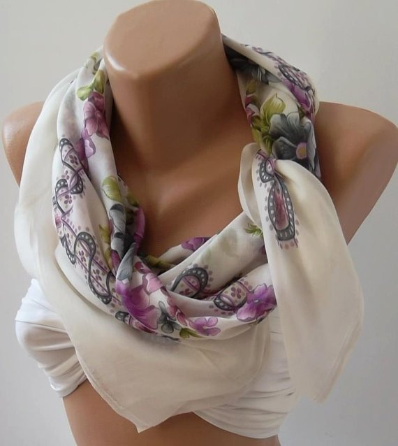 ON SALE/Shawl - Cotton Scarf - Headband - Necklace Shawl - Very speacial soft cotton fabric.