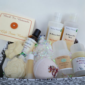 Bath gift set - natural bath gift set - body gift set - soap gift set - shampoo and body wash gift - lavender gift set