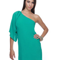 Seychelles One Shoulder Sea Green Dress