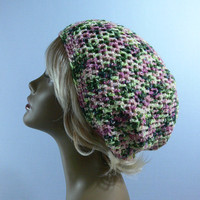 Tam-Boho-Dreadlocks-Hippie-Beanie-Hat-Slouchy -  FS-141